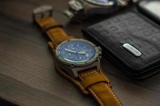Free Stock Photo of Leather Watch