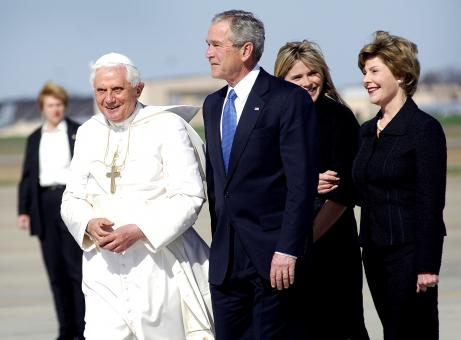 Free Stock Photo of Pope Benedict and George Bush