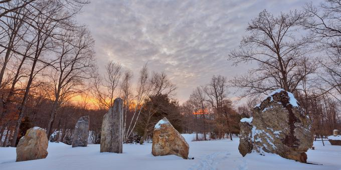 Free Stock Photo of Winter Dawn Megaliths - HDR