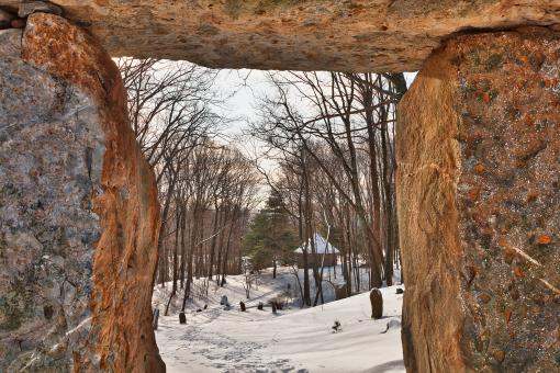 Free Stock Photo of Winter Megalith Frame - HDR