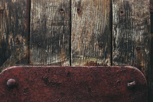 Free Stock Photo of Old Wood and Metal Texture