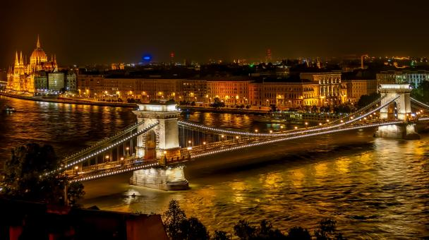 Free Stock Photo of Szechenyi Chain Bridge