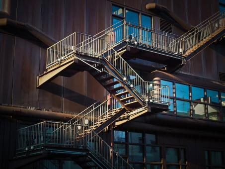 Free Stock Photo of Metal Stairs