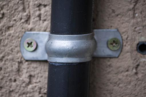 Free Stock Photo of Exterior tube with bracket
