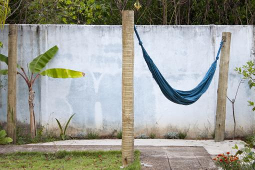 Free Stock Photo of Hammock on wooden posts