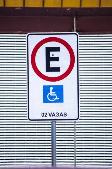 Free Stock Photo of Disabled Street Sign