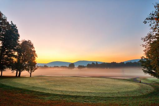 Free Stock Photo of Misty Dawn Golf Course - HDR
