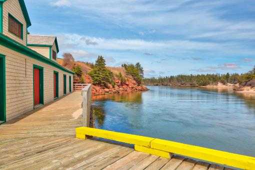 Free Stock Photo of PEI Beach Boardwalk - Basin Head HDR