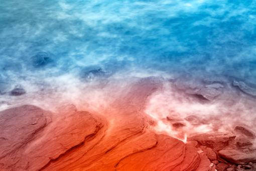 Free Stock Photo of Vibrant Abstract Sandstone Coast