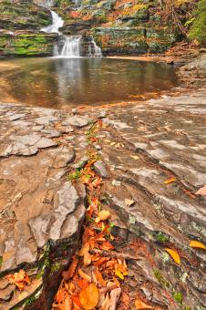 Free Stock Photo of Autumn Crater Waterfall - HDR