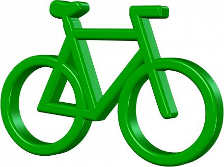 Free Stock Photo of Green Bike