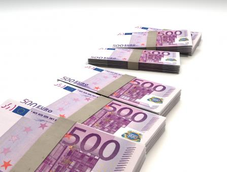 Free Stock Photo of 500 Euro Bills