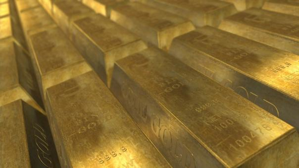 Free Stock Photo of Gold Bullion
