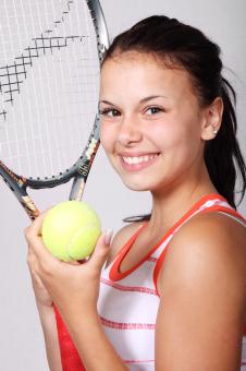 Free Stock Photo of Girl with Racket