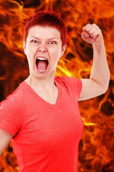Free Stock Photo of Angry Lady