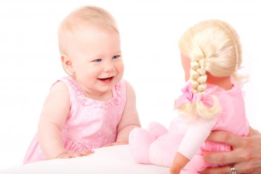 Free Stock Photo of Baby and Doll