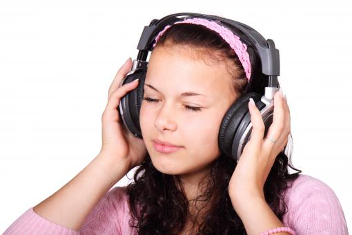 Free Stock Photo of Listening to Music