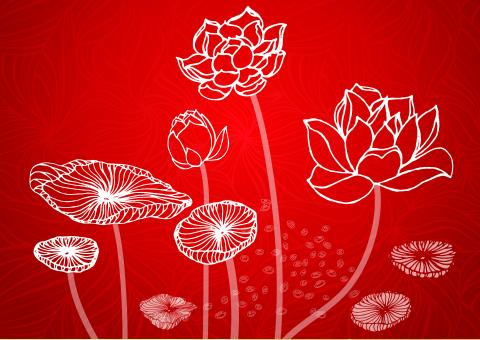 Free Stock Photo of Lotus Illustration