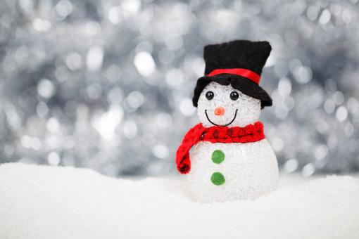 Free Stock Photo of Snowman on Christmas