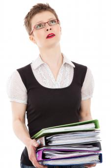 Free Stock Photo of Clerk Lady