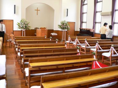 Free Stock Photo of The Interior of a Protestant Christian Church