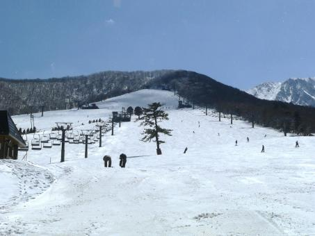 Free Stock Photo of Japanese ski slopes on Mount Daisen