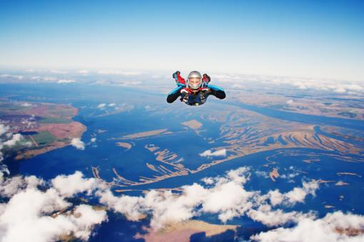 Free Stock Photo of Skydiver