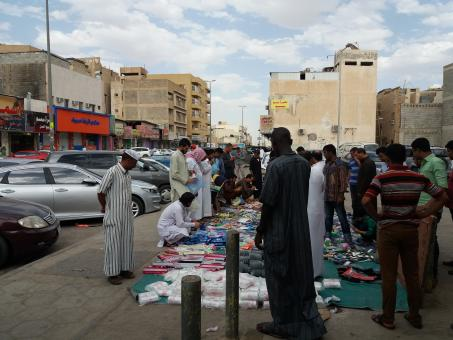 Free Stock Photo of Street Market in Saudi