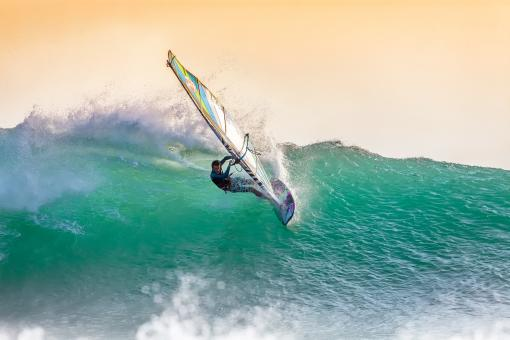 Free Stock Photo of Wind Surfing