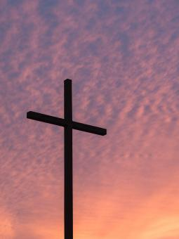 Free Stock Photo of Cross at Sunset