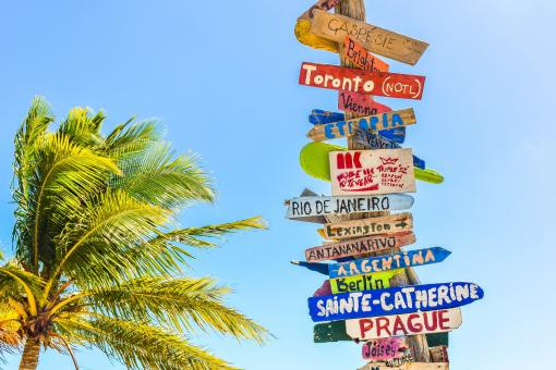 Free Stock Photo of Destinations - Wooden Signs