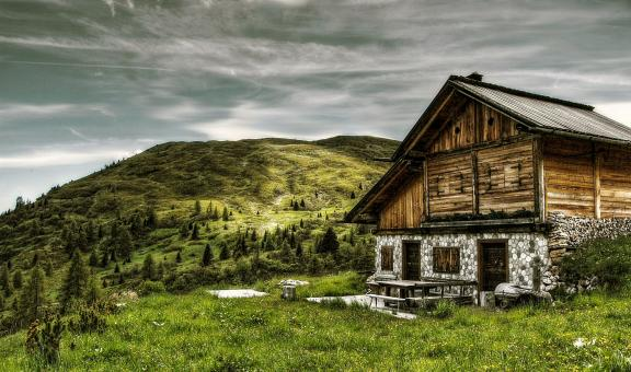 Free Stock Photo of Wooden Cabin