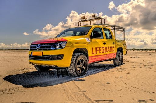 Free Stock Photo of Lifeguard Truck