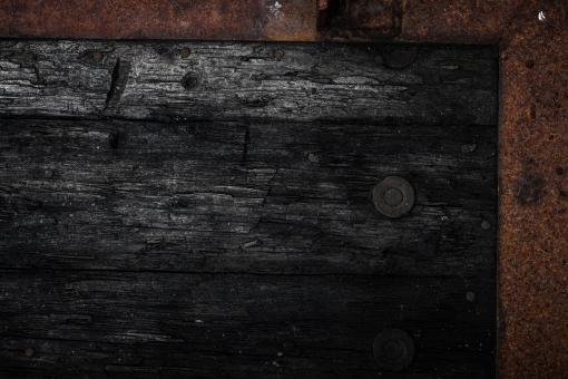 Free Stock Photo of Black Rotting Wooden Frame