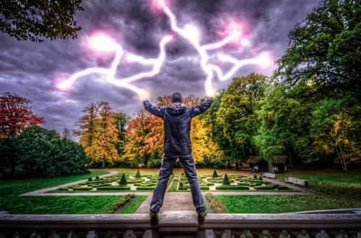 Free Stock Photo of Man with Powers