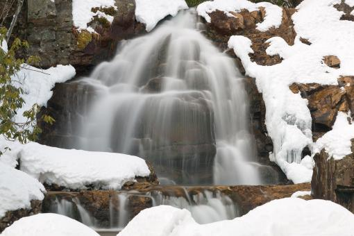 Free Stock Photo of Winter Hawk Falls - HDR