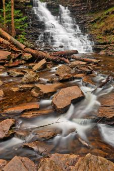 Free Stock Photo of FL Ricketts Streaming Falls - HDR