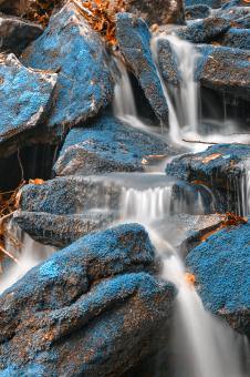 Free Stock Photo of Blue Moss Waterfall - HDR