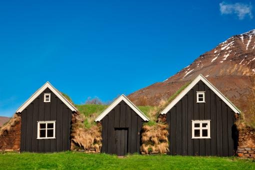 Free Stock Photo of Holar Turf House