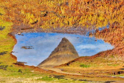 Free Stock Photo of Abstract Kirkjufell Reflection