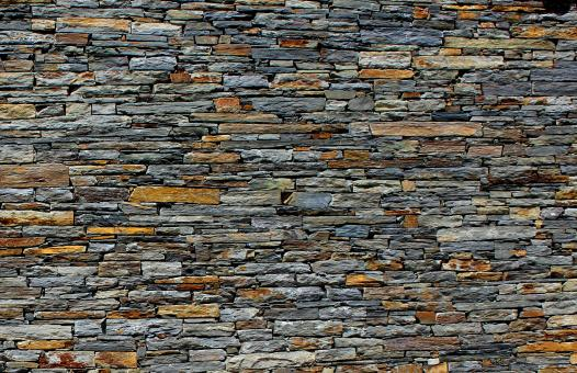 Free Stock Photo of Stone Wall - Stone Texture - Schist - Background