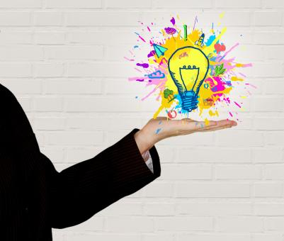 Free Stock Photo of Explosion of Ideas - Person Generating Ideas