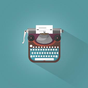 Free Stock Photo of Vintage Typewriter - Illustration