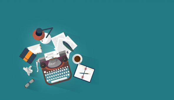 Free Stock Photo of Work Desk - Writer - Author - Creative Writing Concept