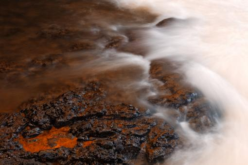 Free Stock Photo of Burning Kolufoss Stream