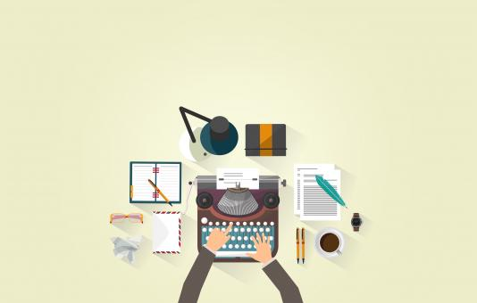 Free Stock Photo of Writer Typing - Typewriter - Work Desk - Author