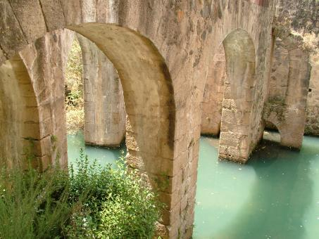 Free Stock Photo of Arches Under the Bridge