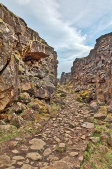 Free Stock Photo of Rugged Rift Valley Trail - Thingvellir