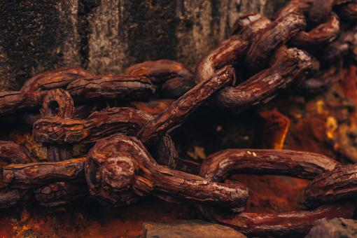 Free Stock Photo of Rusty Chain Links