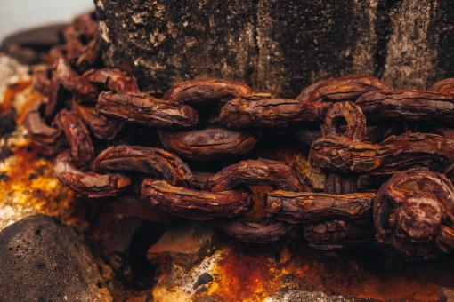 Free Stock Photo of Rusty Chain Background